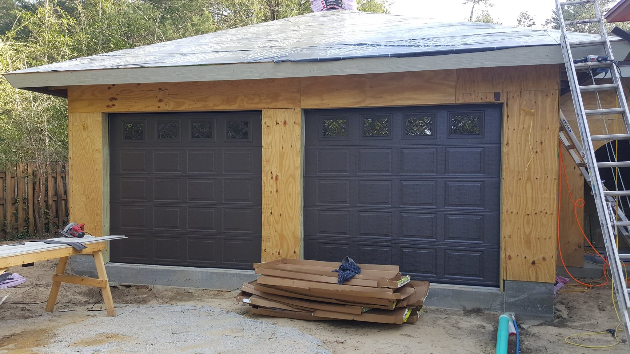 Finalized Garage Installation.